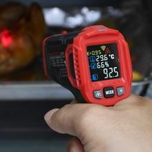 Habotest HT650C Temperatuur vochtigheidsmeter Hygrometer Digitale Termometer Infrarood Laser Thermometer Weerstation