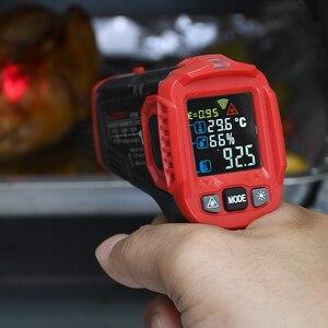 Image 1 - Habotest HT650C Temperatuur vochtigheidsmeter Hygrometer Digitale Termometer Infrarood Laser Thermometer Weerstation
