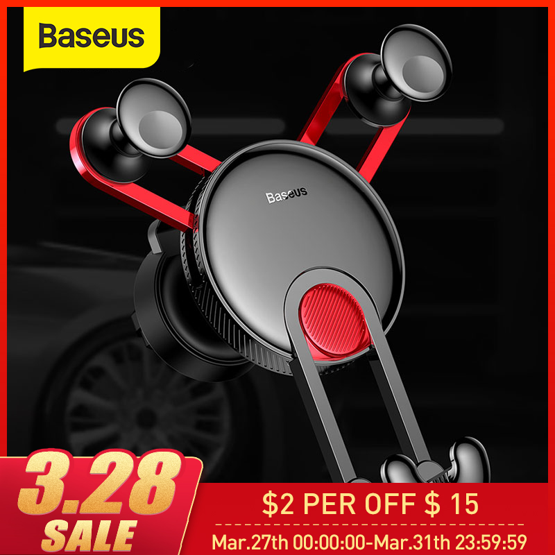 Baseus Car Phone Holder With USB Cable For IPhone X 8 7 6 Car Air Outlet Phone Holder Stand For Huawei P20 Xiaomi Redmi Note 7