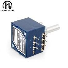 Hifi1b potenciômetro de áudio japonês, tipo 27, 10k, 50k, 100k, potenciômetro de alta fidelidade, acessórios para amplificador
