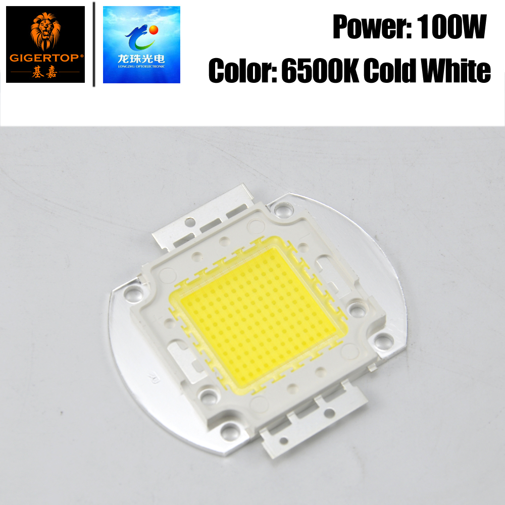 Freeshipping 100W Cool White Stage Light COB Led Lamp 100 Watt Led Lamp Chip High Lumens For DIY Floodlight Spotlight Soldering