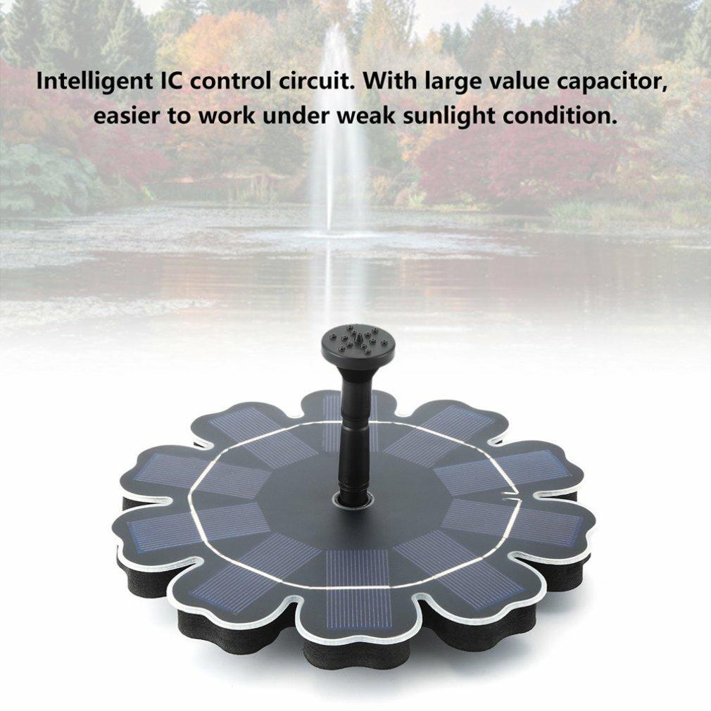 Плавающий фонтан насос садовые украшения лепесток фонтан водяной насос на солнечных батареях 4шт с различных фонтанных насадок