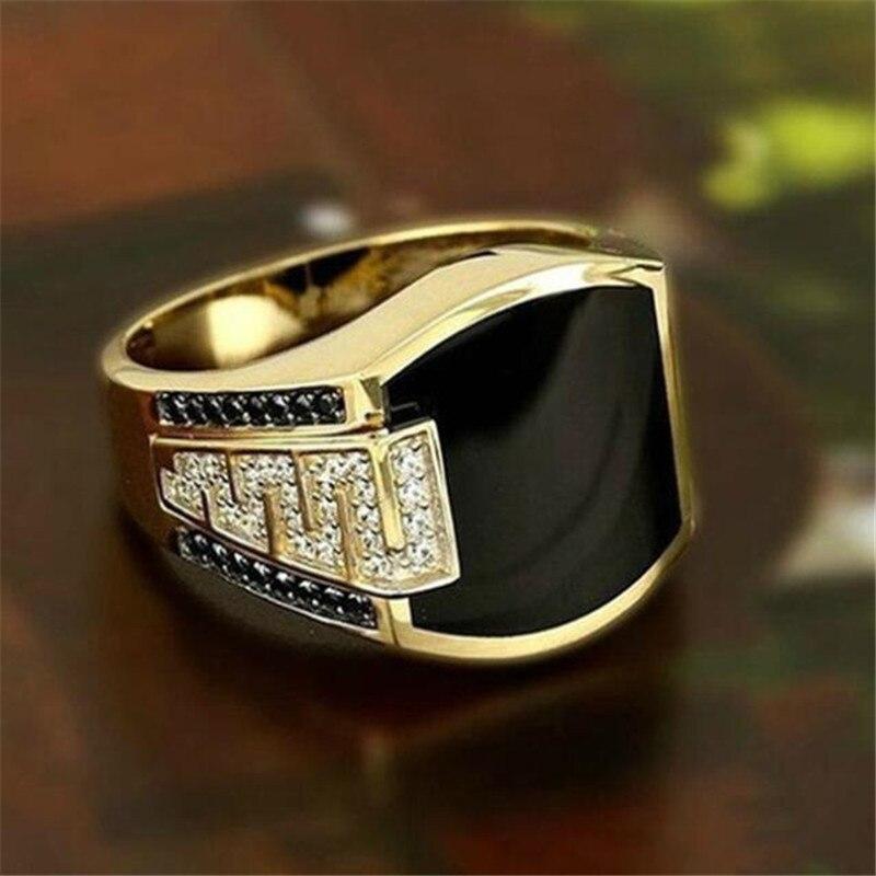 Простота конструкции Для мужчин, с украшением в виде кристаллов Золотое кольцо браслеты с подвесками мужской указательный палец кольцо украшения для коктейля, вечеринки|Кольца| | АлиЭкспресс