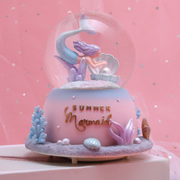 Mermaid musical jewelry box gift for girlfriend gift for boyfriend snow globe christmas music box home decoration accessories