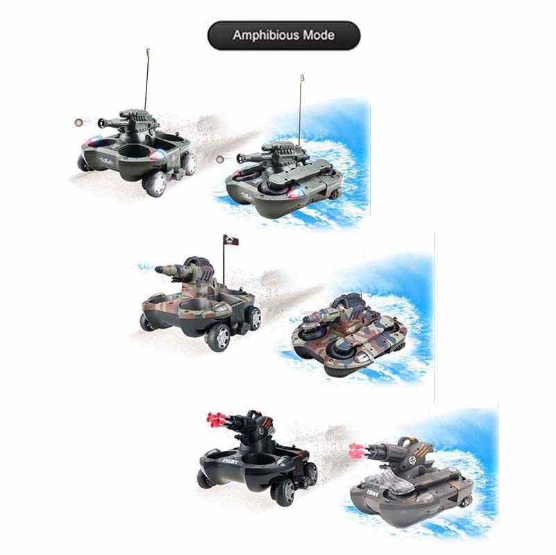 الجيش برمائية دبابة مع جهاز للتحكم عن بُعد اللعب الإلكترونية سيارة التحكم عن بعد للأطفال هدايا الهواء لينة BB رصاصة رش المياه تبادل لاطلاق النار الهدف