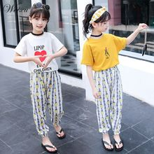 Toddler Baby Girl Clothes Summer 2019 White Cotton Tops T Shirt Pants 2PCS Clothes Set for Teenage Girls 6 8 10 12 14 Years Old toddler girls clothes size 10 boutique coat t shirt jeans pants age 6 8 10 12 years old autumn children clothing girls sets