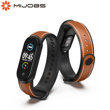 For Mi Band 5 Strap Leather Wristband for Xiaomi Mi Band 5 Bracelet Correa Miband 5 Xiomi Band5 Sport TPU Breathable Replacement