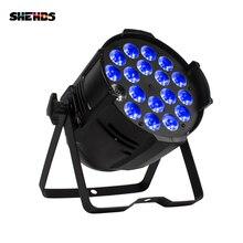 Shehds liga de alumínio led par 18x18 6in1 rgbwa + iluminação uv em alluminio dmx 512 luz palco impermeável ip20 dj di iluminazione