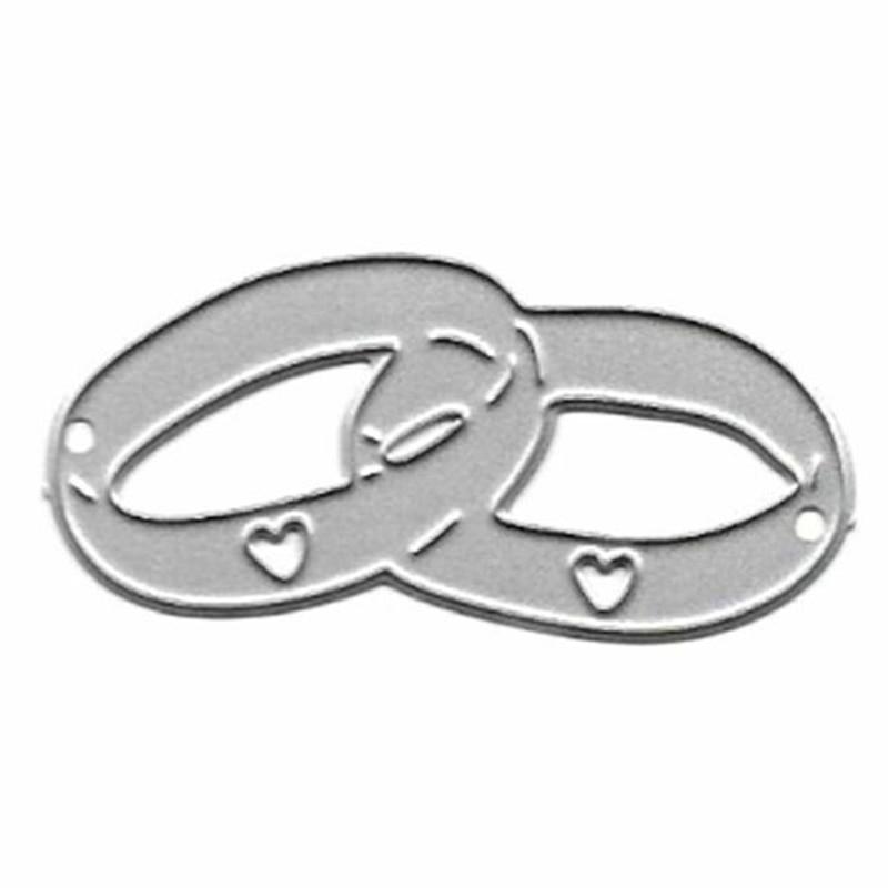 Wedding Rings Metal Cutting Dies Stencil Craft Card Making DIY Scrapbooking Stamps Embossing Cutting Dies