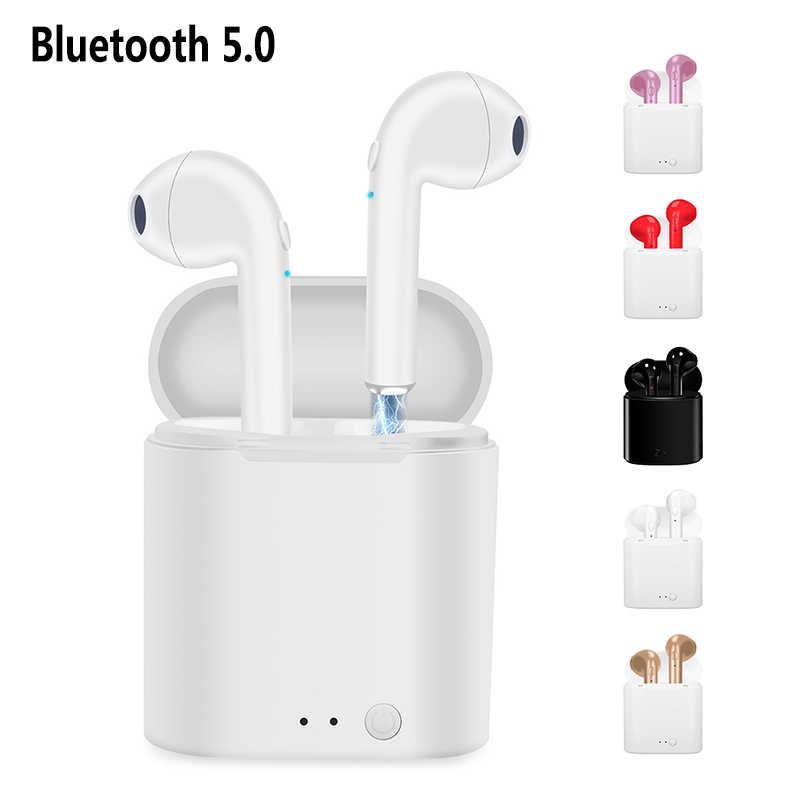 Auricolare Senza Fili I7s Tws Ricarica Stereo Auricolari Bluetooth 5.0 Auricolare con Ricarica Senza Fili Auricolare con Microfono per Tutto Il Telefono Intelligente