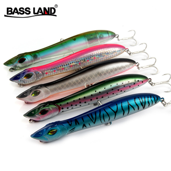 Snake Popper Head Lure 140mm 26g Floating Crankbait Sea Bass Pike Bait Pencil Topwater Artificial Fishing Tackle