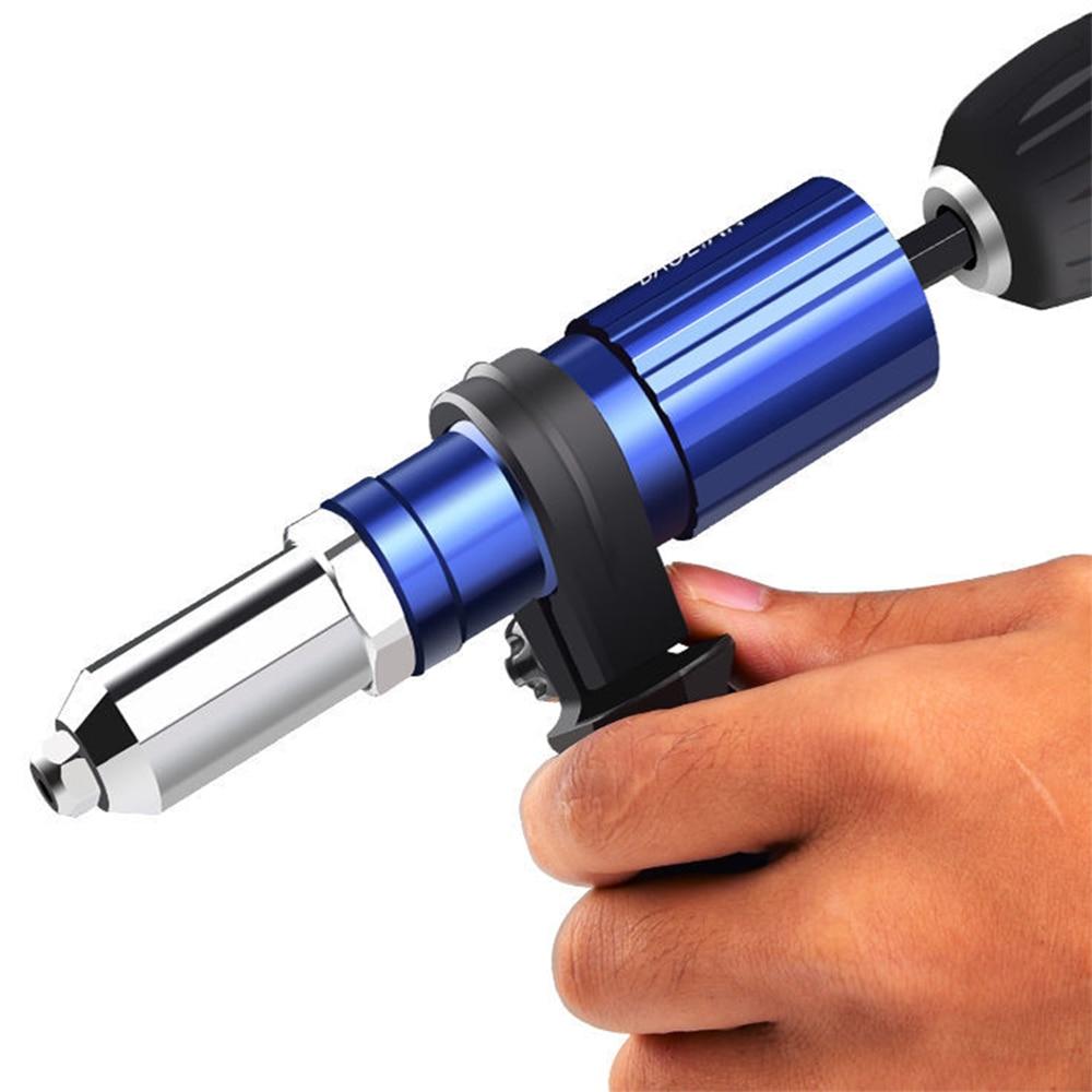 Elettrico Rivetto Pistola 2.4 millimetri-4.8 millimetri rivetto dado adattatore drill rivettatrice Dado di Inserimento Strumento