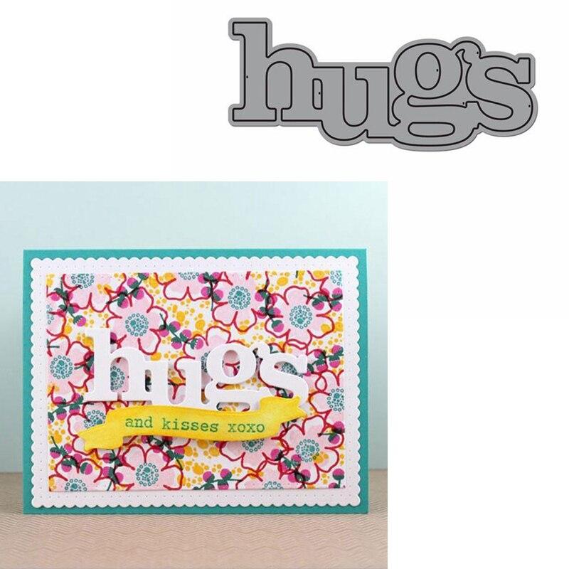 Hugs Word Die Cuts For Card Making Hugs Word Dies Scrapbooking Metal Cutting Dies New 2019