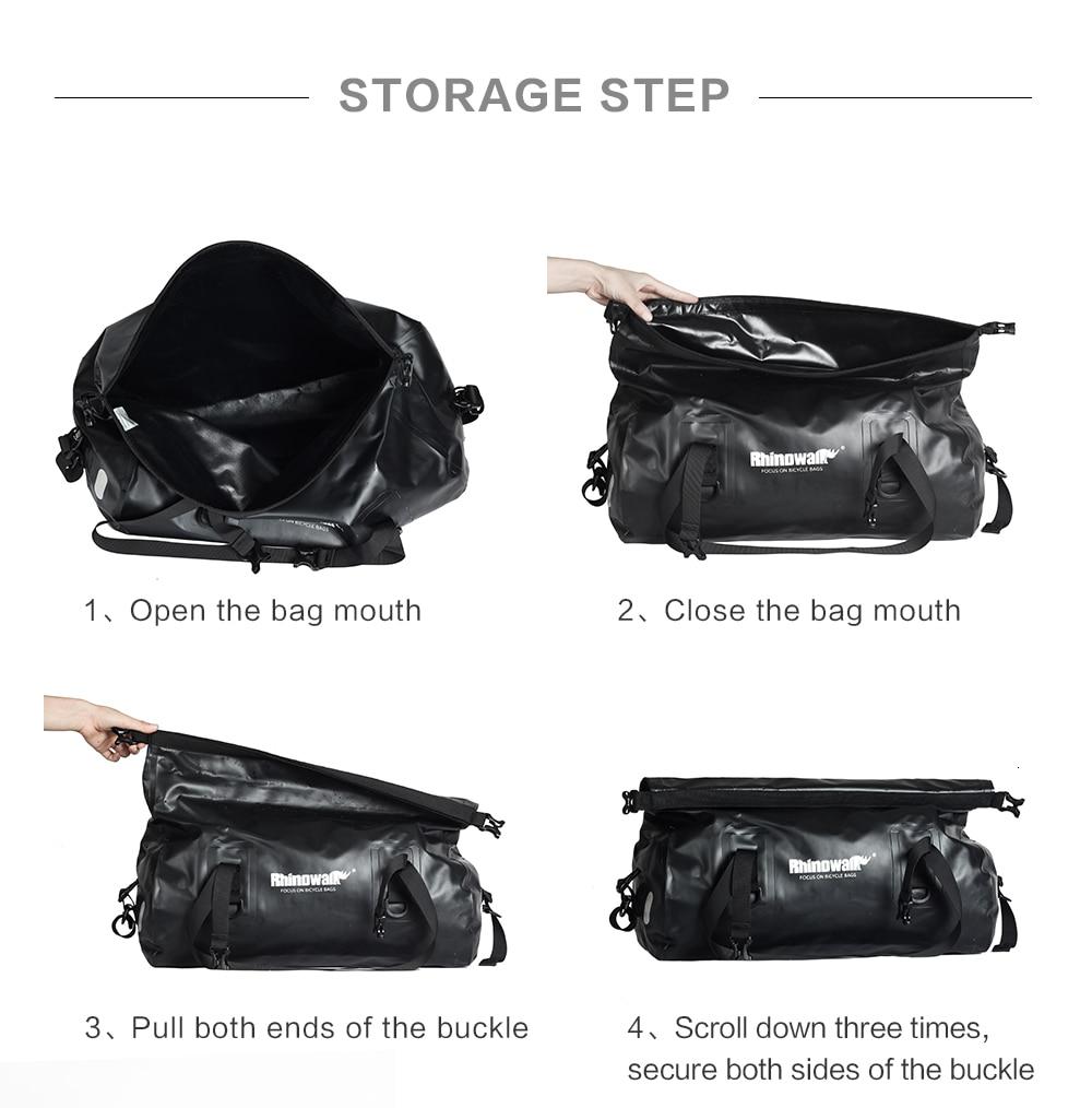 Rhinowalk Bicycle Luggage Bags 20L Full Waterproof for Road Bike Rear Rack Trunk Cycling Saddle Storage Pannier Multi Travel Bag (19)
