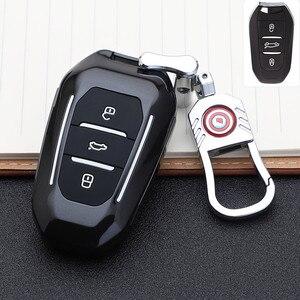 Image 1 - 2019 smart remote car key fob case cover for Peugeot 508 301 2008 3008 4008 407 408 Citroen C5 C6 C4L CACTUS C3XR DS Keychain