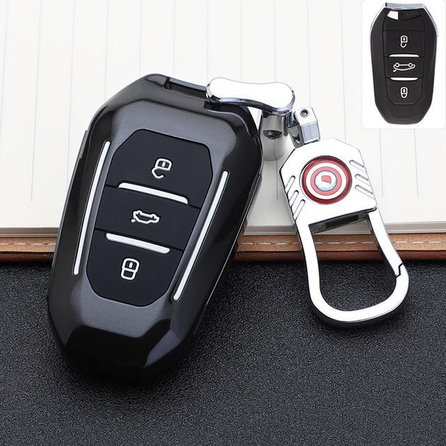2019 smart remote car key fob case cover for Peugeot 508 301 2008 3008 4008 407 408 Citroen C5 C6 C4L CACTUS C3XR DS Keychain