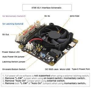 Image 2 - Raspberry Pi 4 modèle B X735, panneau dextension de gestion de lalimentation et de refroidissement automatique, avec extinction sûre 5V Max, sortie 8a