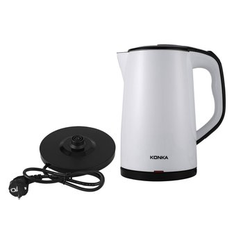 Stainless Steel Electric Kettle Tea Pot Double Layers Scald Proof Kettle Power-off Protection Water Boiler Teapot fast boiling 1 5l water kettle handheld electric water kettle instant heating auto power off protection wired kettle