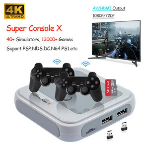2020 New Retro Game Console 4K HD AV/HDMI Output Portable Mini TV Video Game Console Perfect for PSP/PS1/N64/MD 13000+ Games
