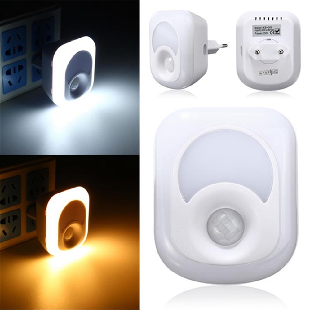 AC 220V Wall lamp Night Light with Motion Sensor PIR Human Infrared Activated 26 LED Wall