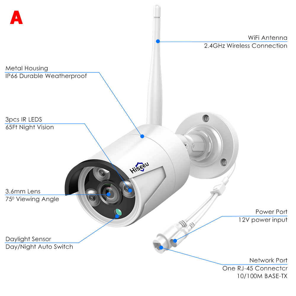 Hisee HB612 1080P IP Camera WiFi