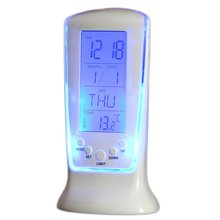 Bedroom Alarm Clock Student Creative Mute Small Clock Smart Battery Children Bed Simple Multi-Function Led Alarm Clock tanie tanio DIGITAL Luminova Cyfrowy ABS + electronic components Nowoczesne white