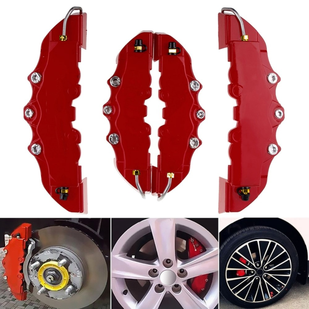 Abs di Plastica Camion 3D Rosso Utile Auto Universal Disc Pinza Freno Coperture Anteriore Posteriore Auto Universale Kit