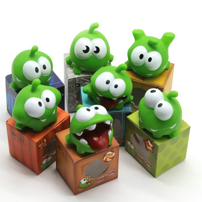 New Arrival 1Pcs Rope Frog Vinyl Rubber Doll Cut The Rope OM NOM Candy Gulping Monster Toy Figure Baby Noise Toy