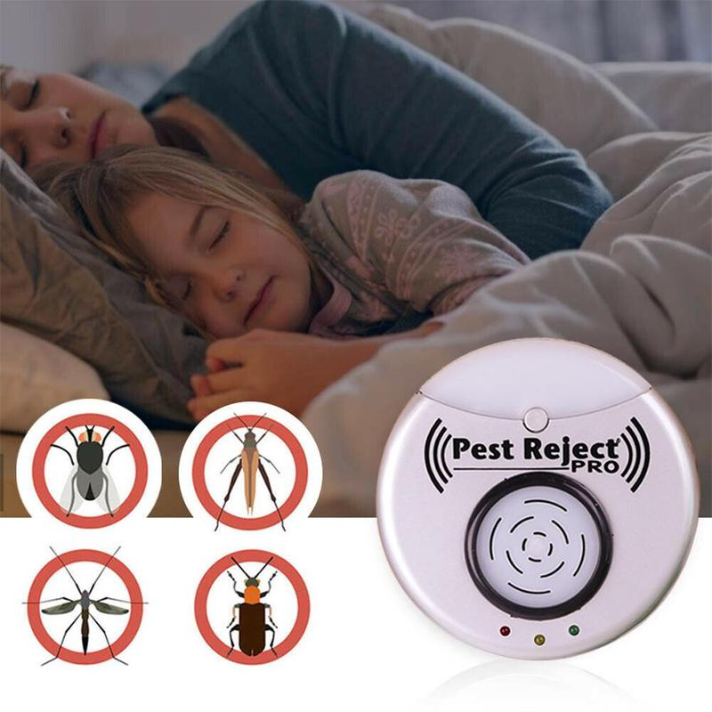 Ultrasonic Mosquito Repeller Reject Bed Bug Mites Spider Roaches Eu/us Plug Home Portable Pest Killer Insect Mouse Repellent Hot