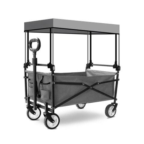 acampamento ao ar livre carrinho de mao