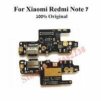 Orijinal USB şarj yuvası Port Flex kablo Xiaomi Redmi için not 7 NT7 not 7 pro şarj fişi kurulu mikrofon değiştirme