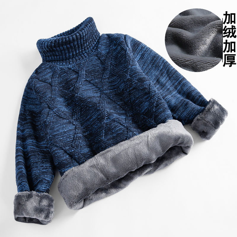 Baby boys sweater 3-11 years autumn and winter thick velvet knitting outwear children's clothing christmas sweater fashion