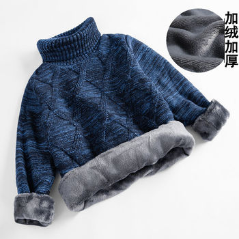 Baby boys sweater 3-11 years autumn and winter thick velvet knitting outwear children's clothing christmas sweater fashion baby boys and girls cardigan sweater 2 11years autumn and winter cartoon jacquard koala bear knitting outwear unisex clothing