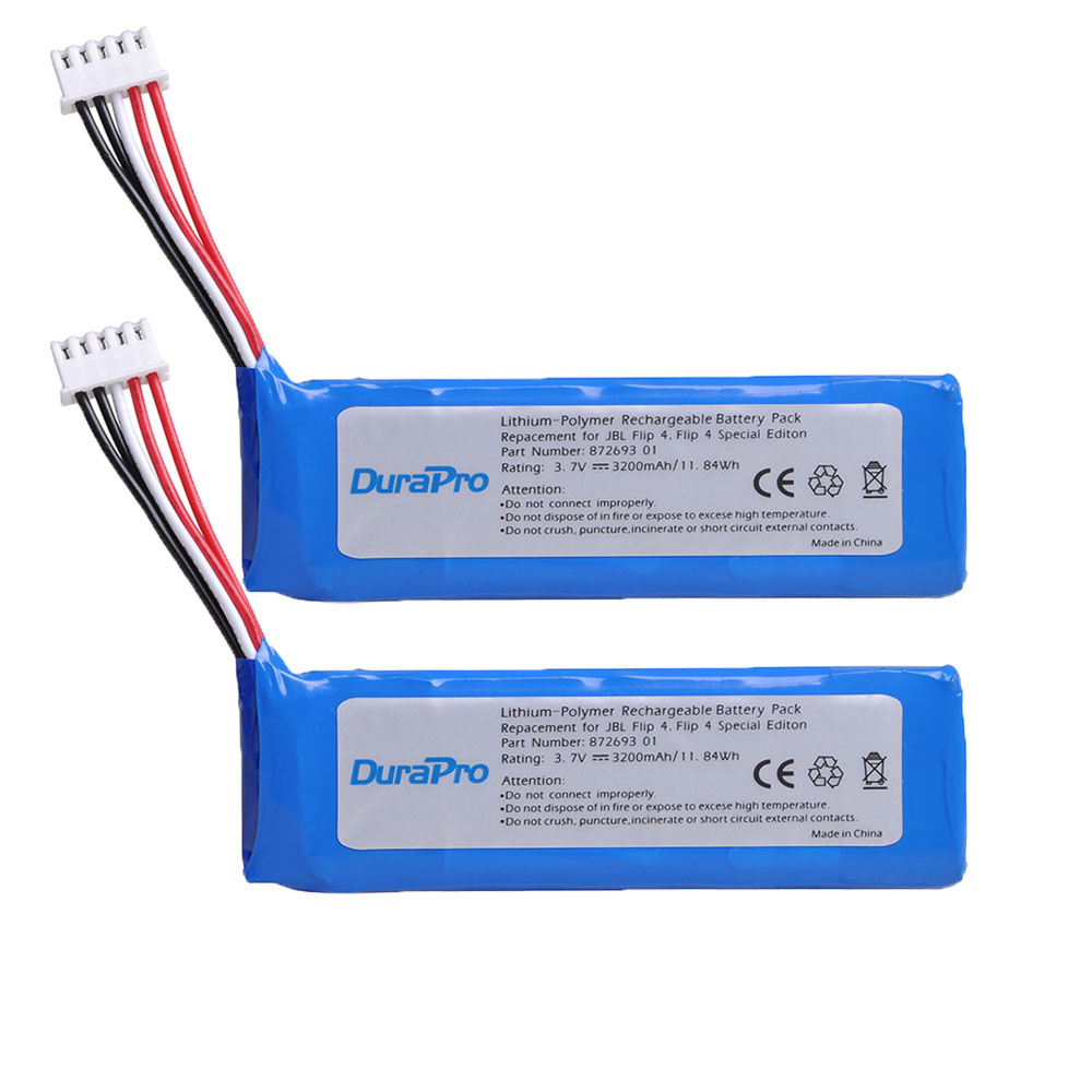 Recarregável para Jbl Durapro 3200 Mah Bateria Gsp872693 01 Flip 4 Edição Especial 2 pc 3.7 v