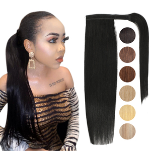 MRSHAIR Ponytail Extensions Human Hair Machine Remy Wrap Around Ponytails Clip in Hair Extensions for Black Women Brazilian Hair