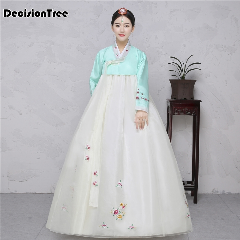 2020 Cotton Silk Full Sleeve Japanese Kimono Yukata Korean Traditional Dress Hanbok Costume Hanbok Dress