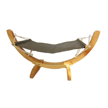 Fashion Wooden Cat Hammock Soft Cosy Rabbit Hamster Bed Cushion Small Dog Hanging