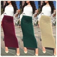 Skirt Islamic-Clothing Muslim-Bottom Long Fashion Pencil Dubai Arab-Wear Bodycon Party