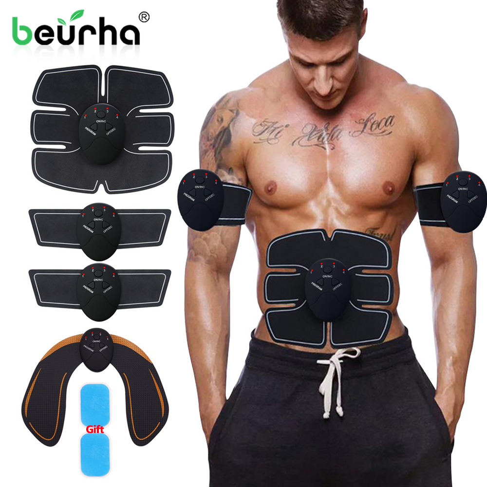 Smart Wireless Electric Muscle Stimulator Body Slimming Shaper Abdominal Buttocks Massager Hip Trainer Hips Exercise Health Care Beneficial To Essential Medulla