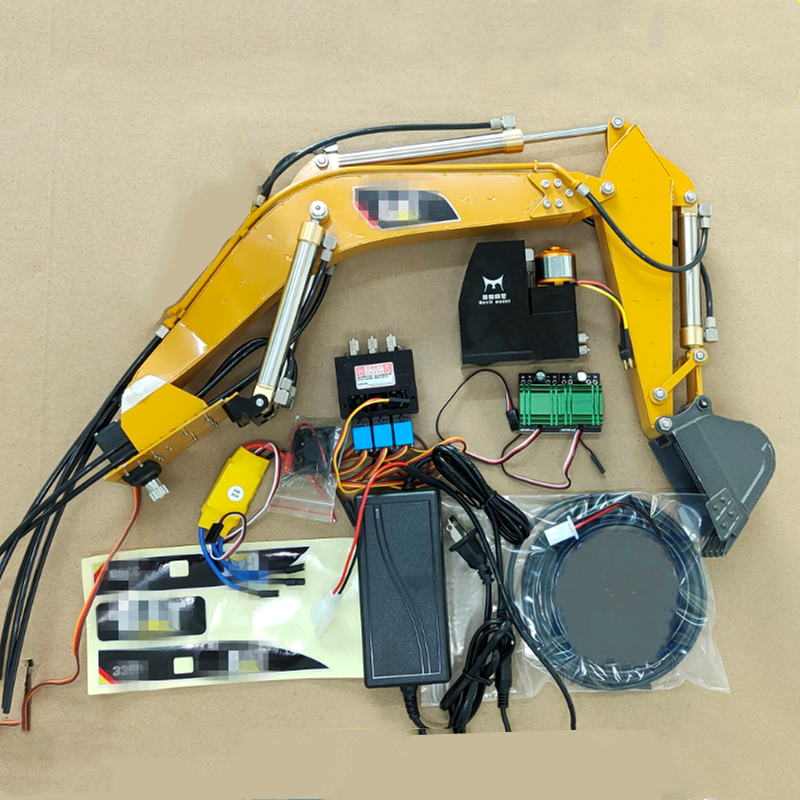 RC Hydraulic Excavator DIY With Hydraulic Oil Pump Upgrade Hydraulic Pump Integrated Oil Tank Parts For HUINA 580 Modified Parts