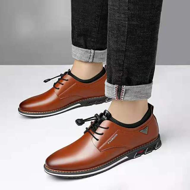 Men Cowhide Leather Shoes  4