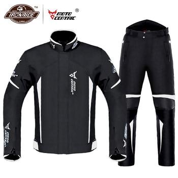 Waterproof Motorcycle Jacket Moto Jacket +Pants Riding Racing Motorbike Clothing Moto Suit for 4 Season 1