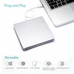 1 Pcs Slim External DVD/CD Drive Burner USB 2.0 Writer Disc Player Disk Reader DVD for Laptop PC Tablet Portable Accessories