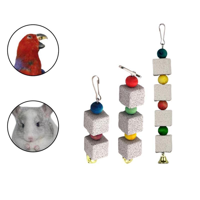Pet Hamster Rabbit Parrot Bird Calcium Teeth Grinding Stone Chew Toys
