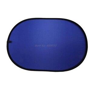 Image 2 - ドロップ 100*150 センチメートルオーバル折りたたみポータブル反射青とグリーンスクリーンクロマキーフォトスタジオライトリフレクター写真