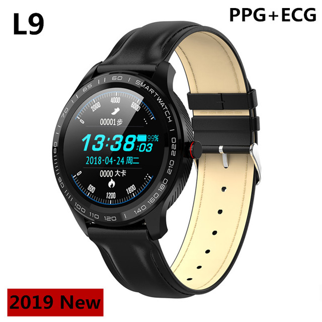 L9 smart watch men  PPG+ECG heart rate blood pressure monitor activity fitness tracker IP68 waterproof watches PK  iwo 10
