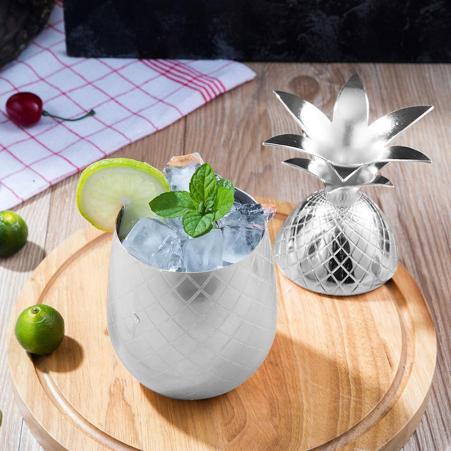 Bar Tools 304 Stainless Steel Cut Shape Cocktail Cup Wine Glass Silver Cocktail Shaker Bar Bar Club Wine Accessories