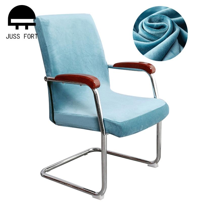 Yeni kalınlaşmak yapay tilki kadife büyük elastik sandalye kılıfı streç sandalye kılıfı s ev düğün ziyafet ofis parti sandalye kılıfı