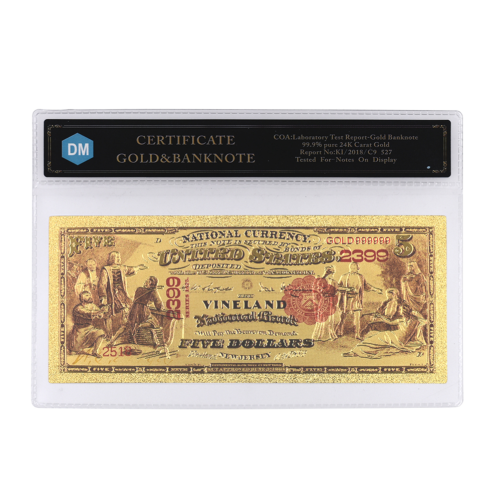 Dollar Gold Banknote 24k Plated
