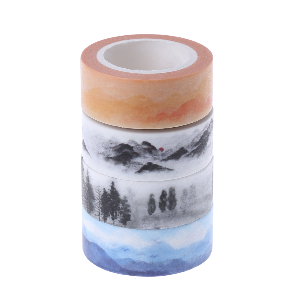 Drop Ship Mountain Design 15mmx7M DIY Paper Sticky Adhesive Sticker Decorative Washi Tape